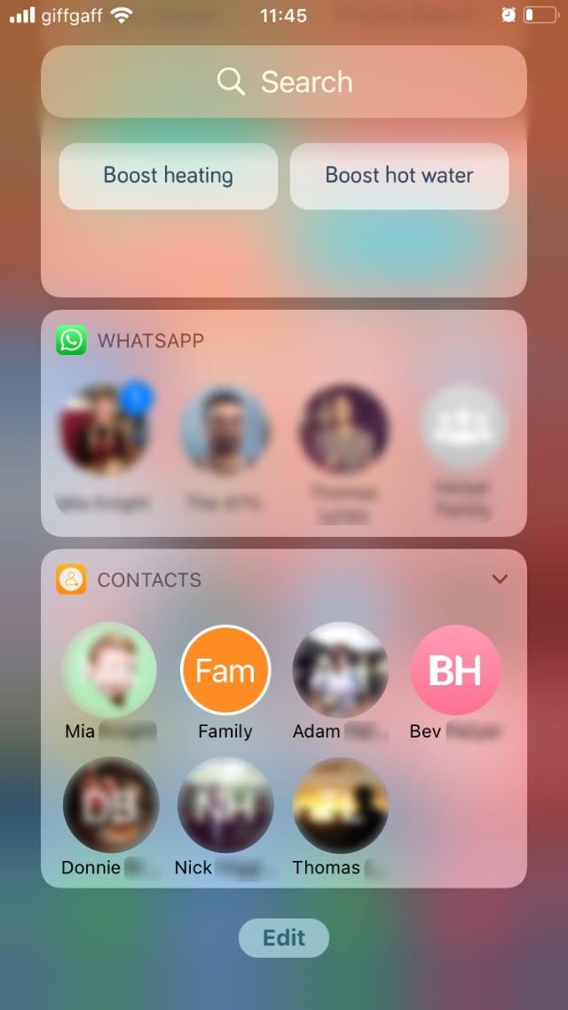 Favorite Contacts Launcher widget