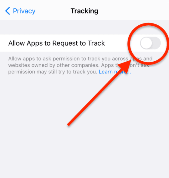 Stop ad tracking in iOS 14
