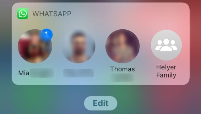 WhatsApp contacts widget