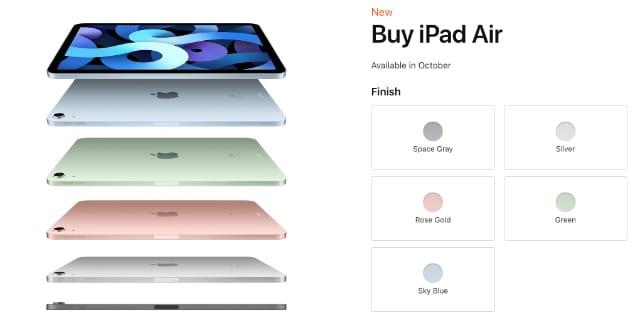 iPad Air on Apple Store