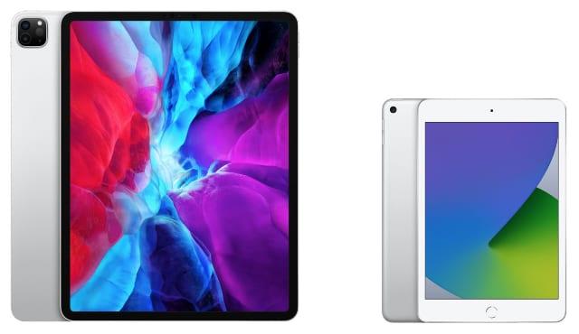 iPad Pro 12.9 next to iPad mini