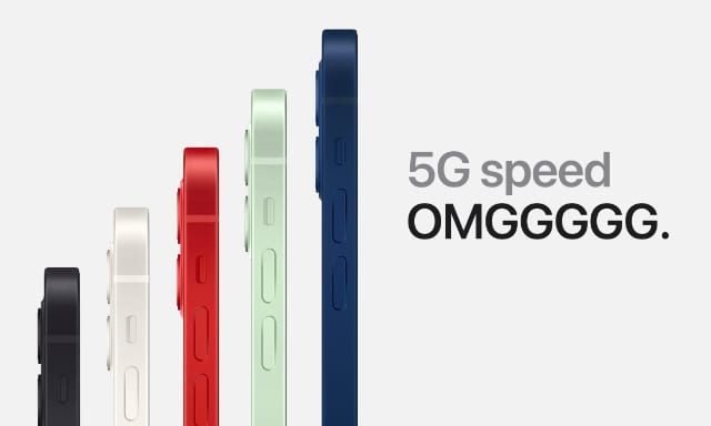 5G promotional image for iPhone 12 lineup