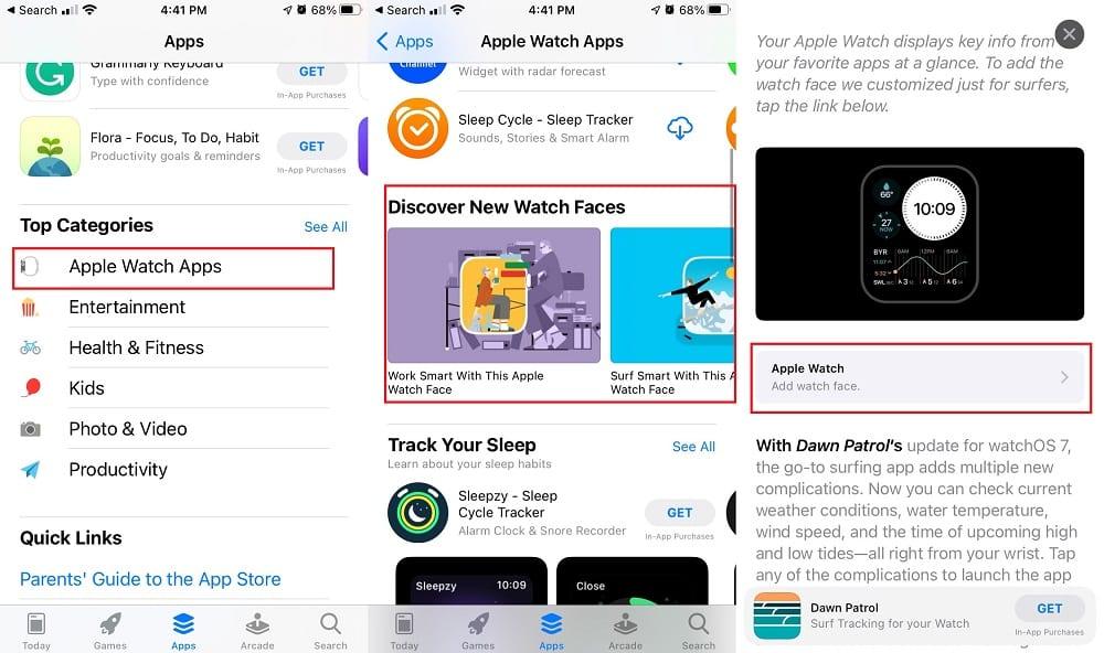 Apple Watch Face Showcase App Store