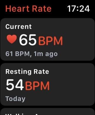 Apple Watch Heart Rate app