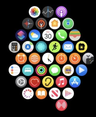 Apple Watch apps screen