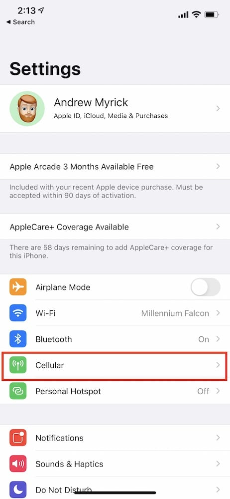 Download iOS Updates over 5G 1