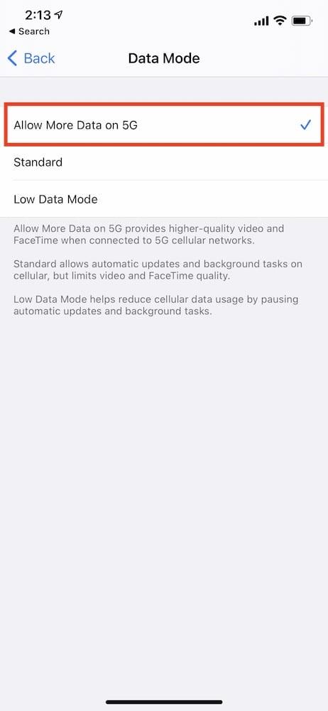 Download iOS Updates over 5G 2