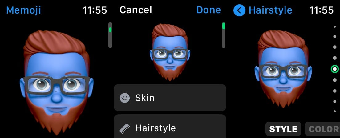Edit Memoji on Watch