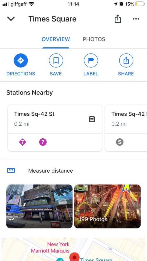 Extra features in Google Maps
