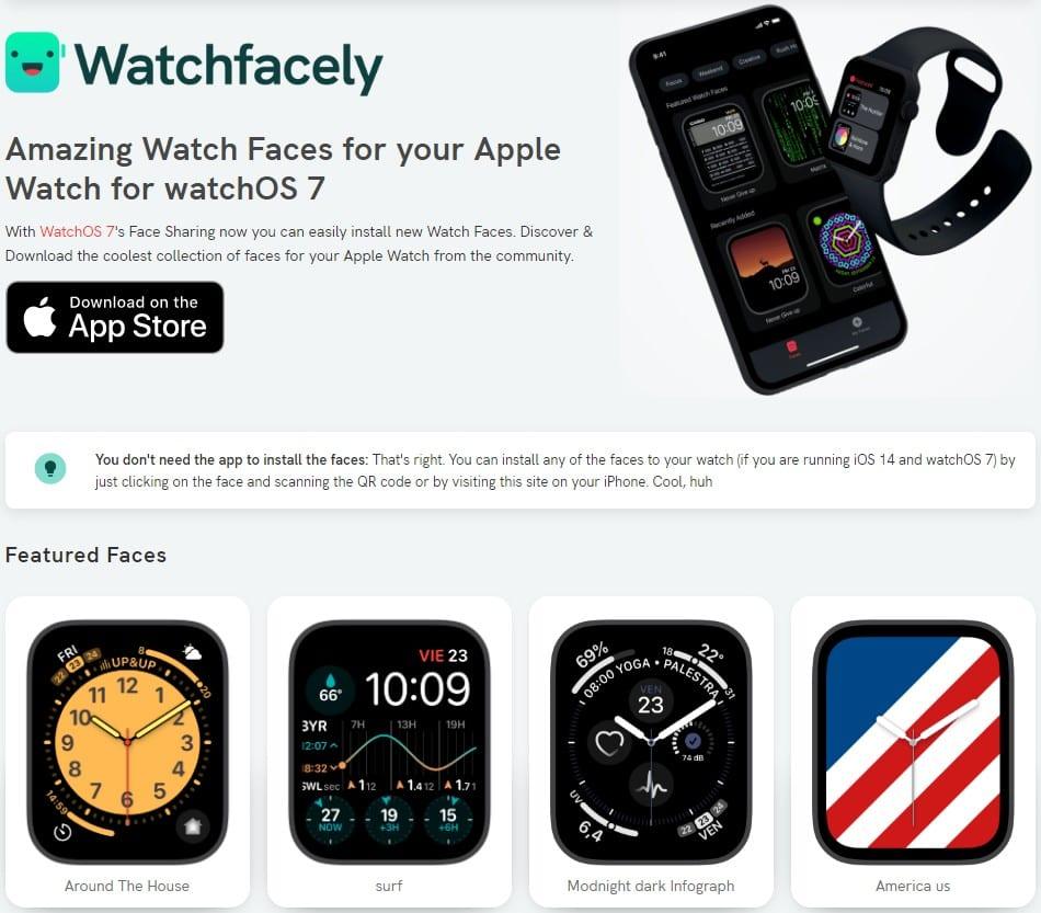 WatchFacely Website