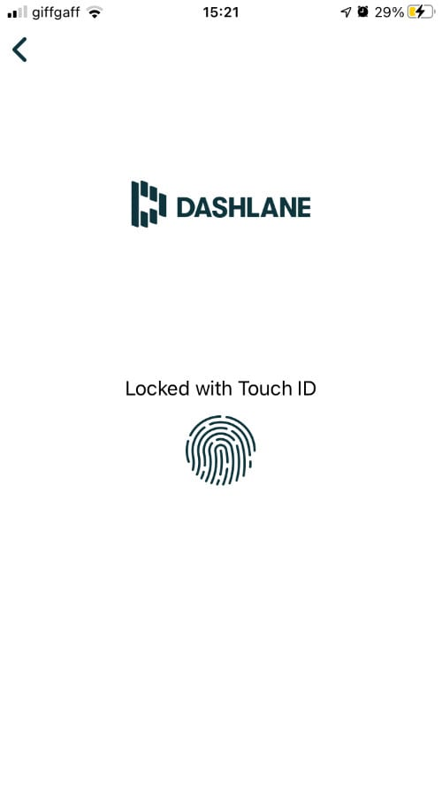 Login to Dashlane with Touch ID