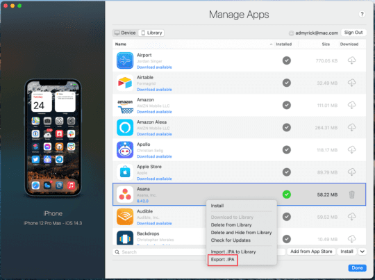 Install Apps on Mac with iMazing 5