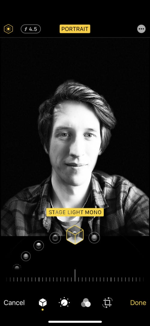 Portrait photo with Stage Light Mono lightingq