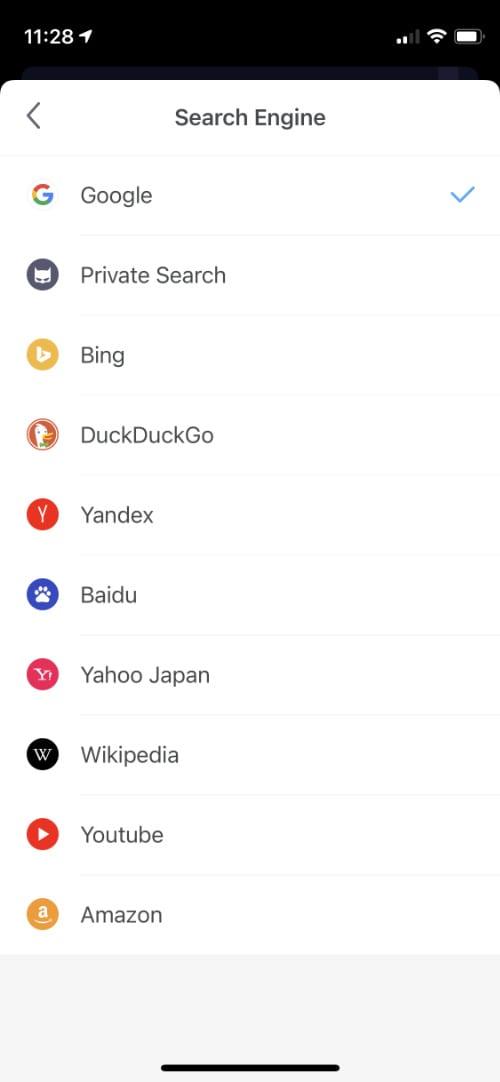 Aloha search engine options