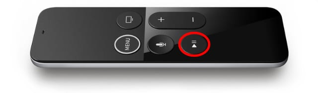 Play/Pause button on Siri Remote