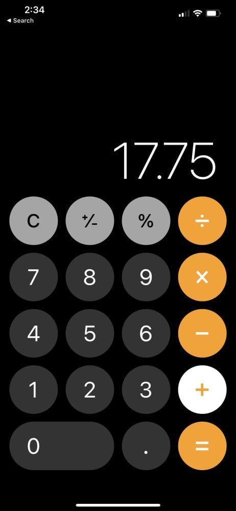 Calculate Tip via app 1