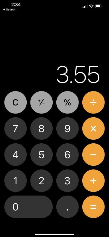 Calculate Tip via app 3