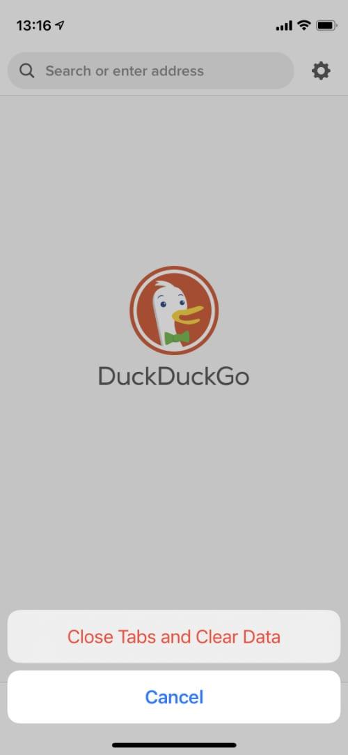 DuckDuckGo Fire button