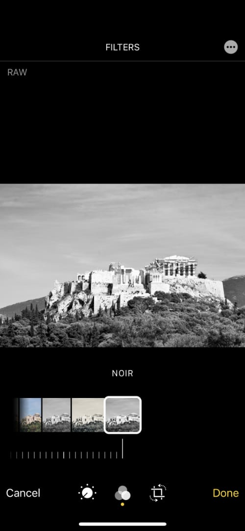 Filters showing Noir filter