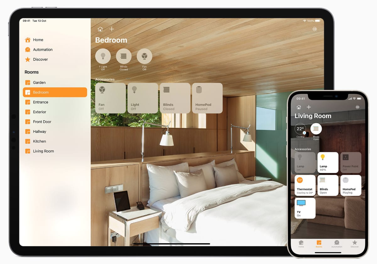 Apple Home app bedroom selection