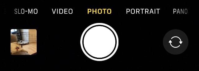iPhone camera modes