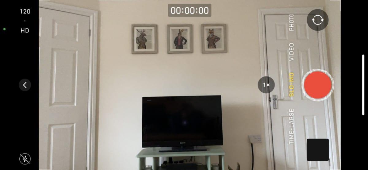 iPhone camera slo-mo mode
