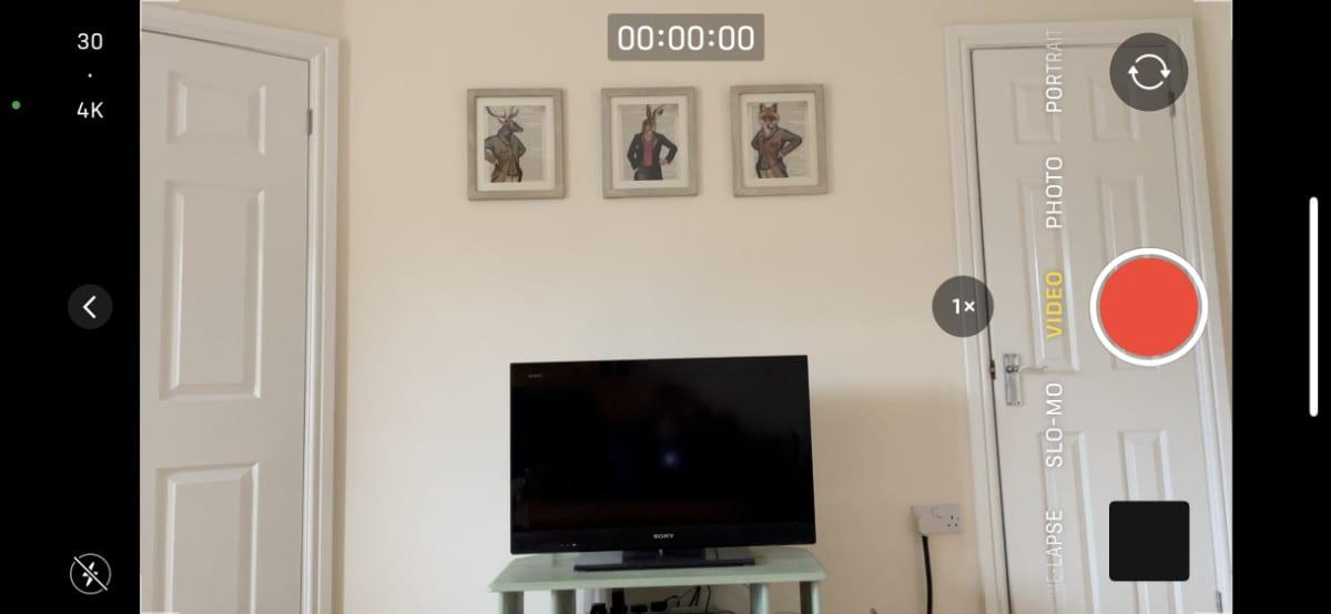iPhone camera video mode