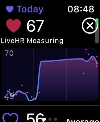 Heart Analyzer chart.