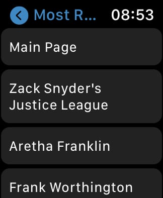 MiniWiki Most Read list.