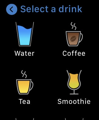 My Water select a drink.