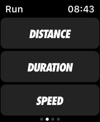 Nike Run Club run metrics.