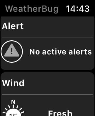 WeatherBug alerts.