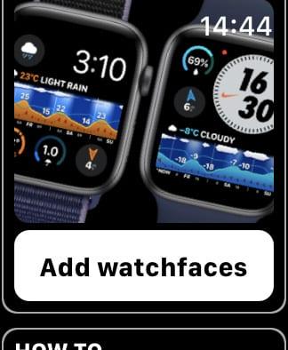 Weathergraph option to Add Watchfaces.