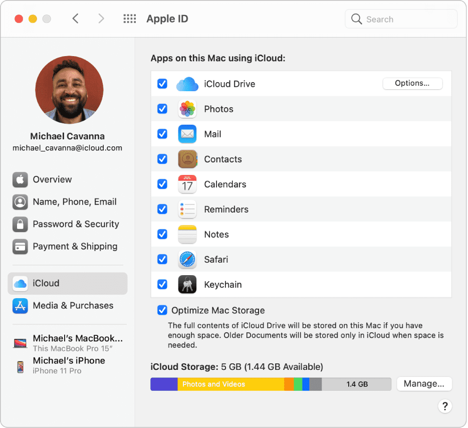 iCloud Contacts on Mac