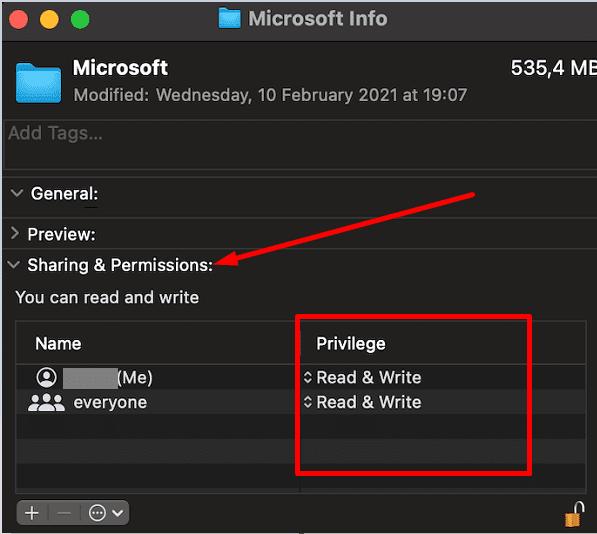 mac microsoft folder sharing and permissions