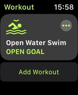 Add Workout option on Apple Watch