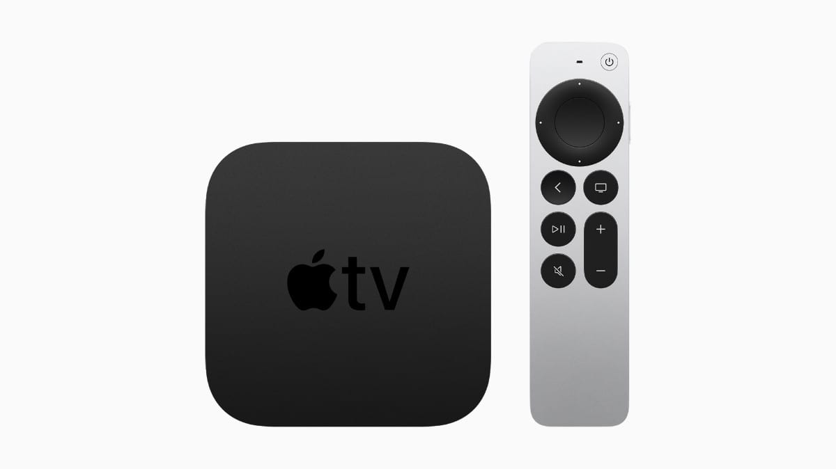 New Apple TV 4K with the redesigned Siri Remote.