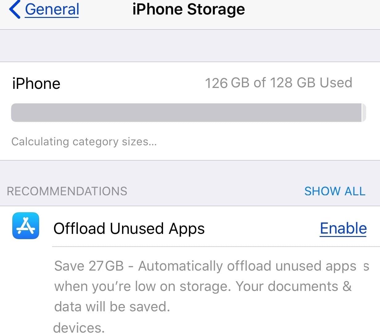 Offload unused apps iphone