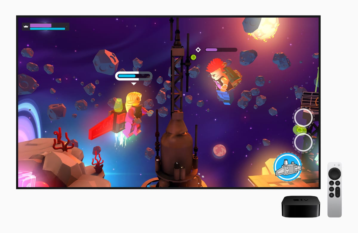 Video game playing on the new Apple TV 4K.