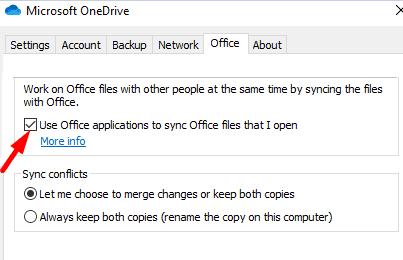 OneDrive-офис-настройки