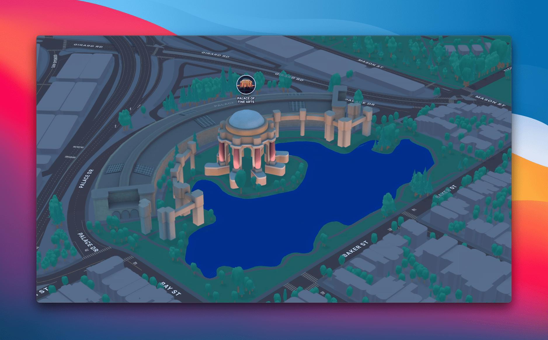 Apple Maps iOS 15 Night Mode