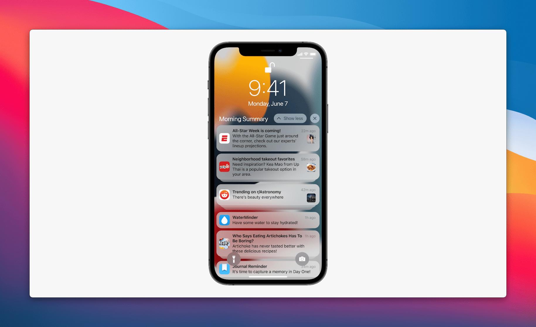 Morning Summary iOS 15