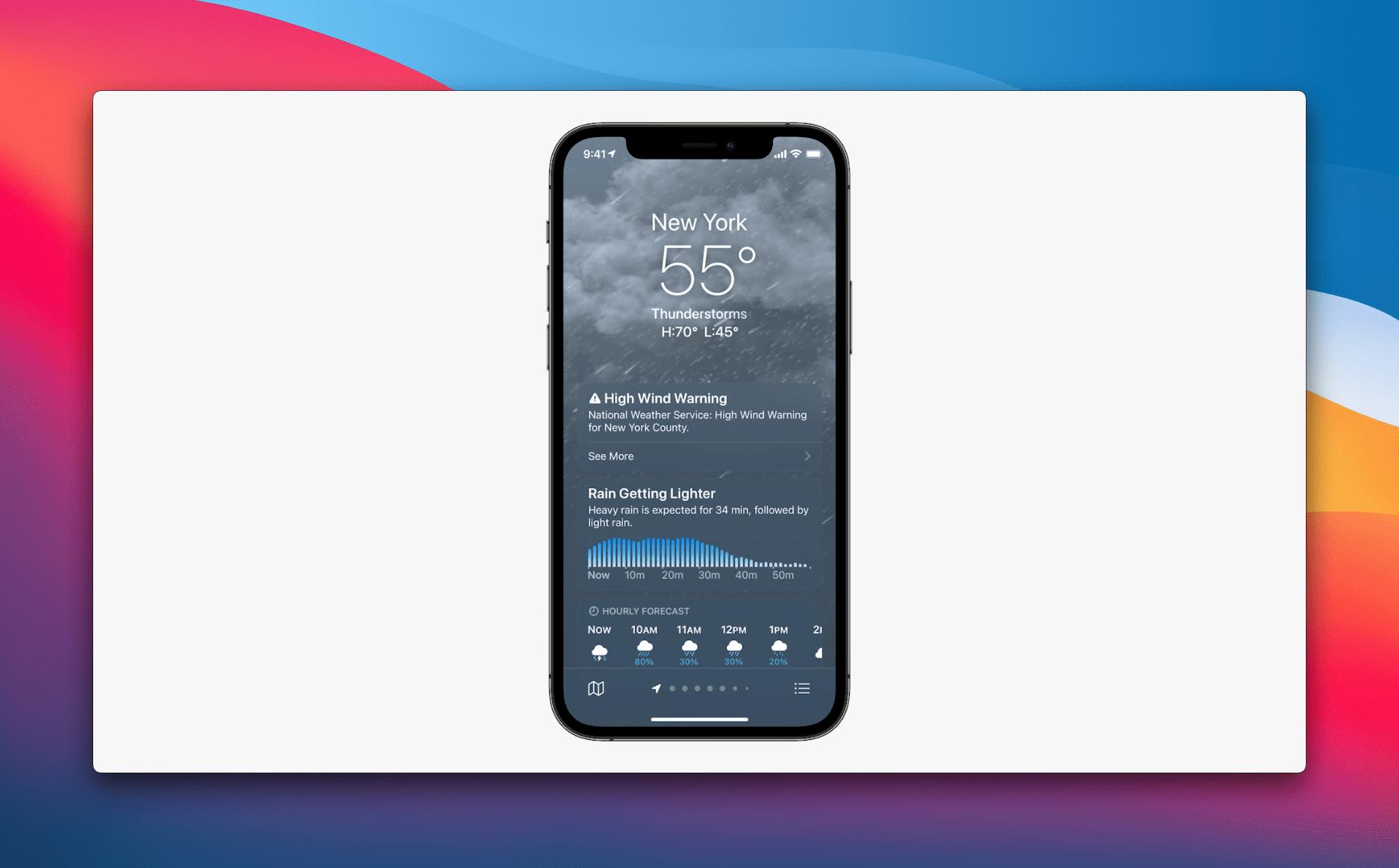 Weather App Changes iOS 15