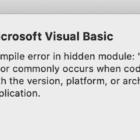 Excel: Compile Error in Hidden Module on Mac