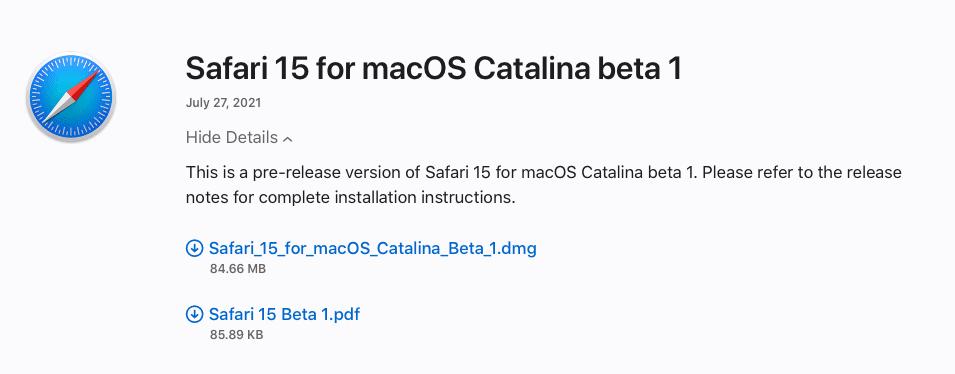 How to Download Safari 15 Beta