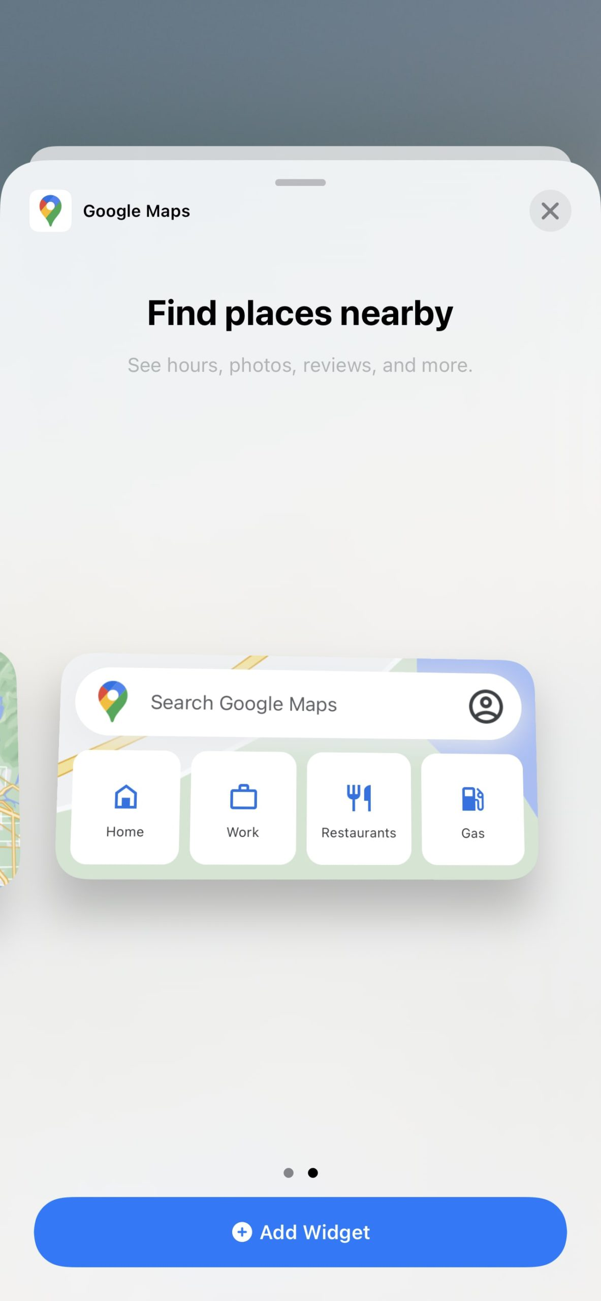 Use Google Maps Widget on iPhone 2