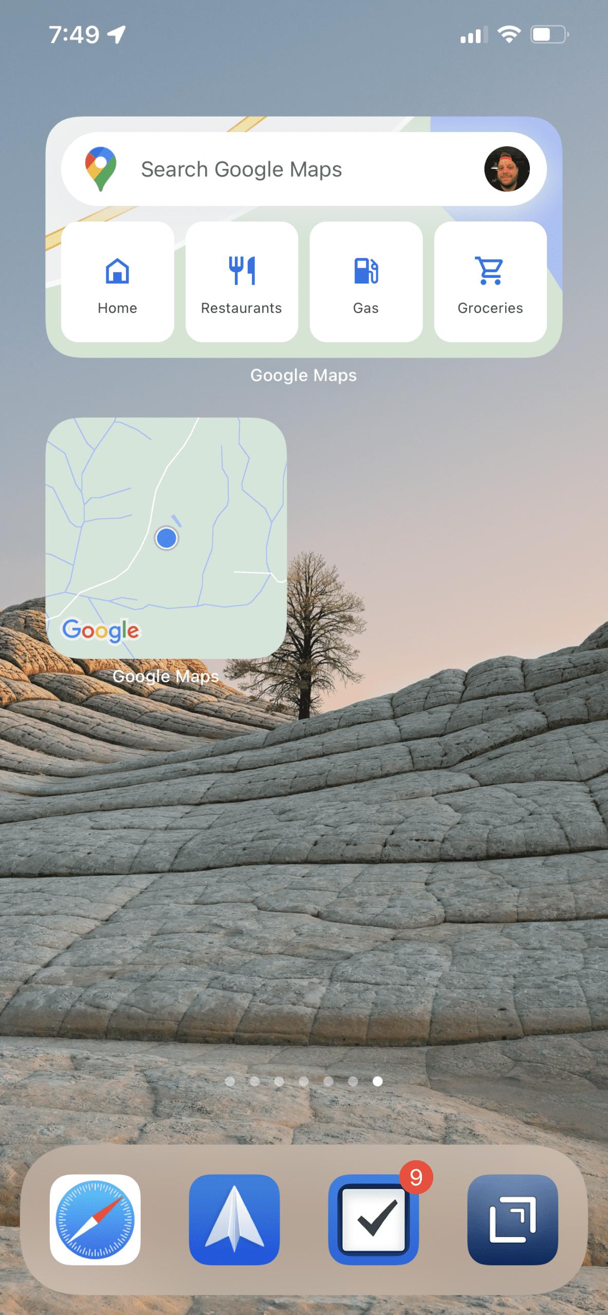 Use Google Maps Widget on iPhone 4