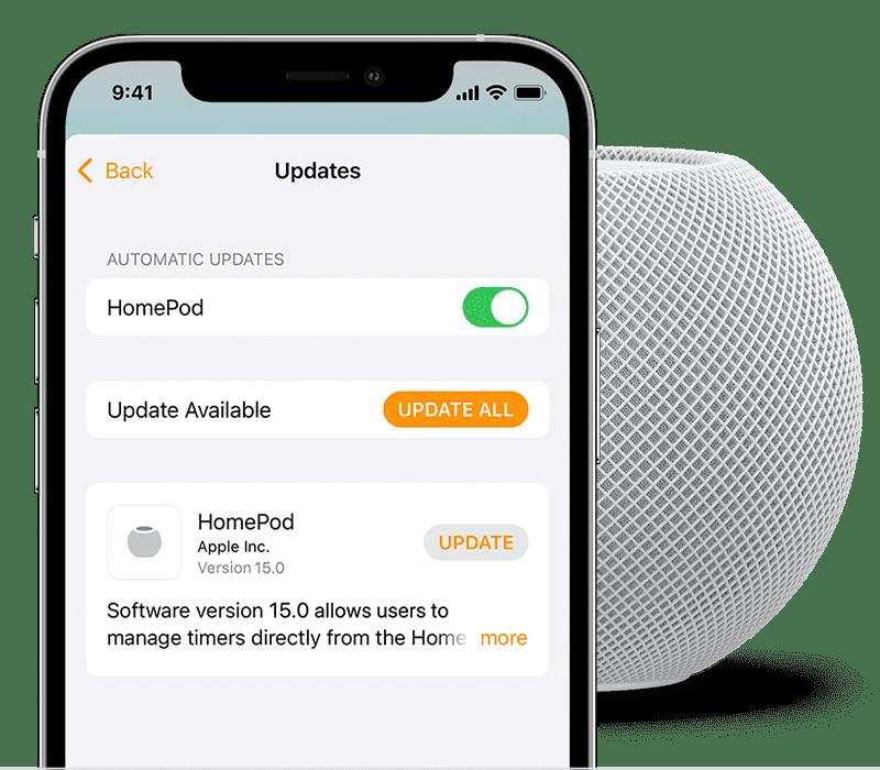 Create HomePod mini Stereo Pair Software Update