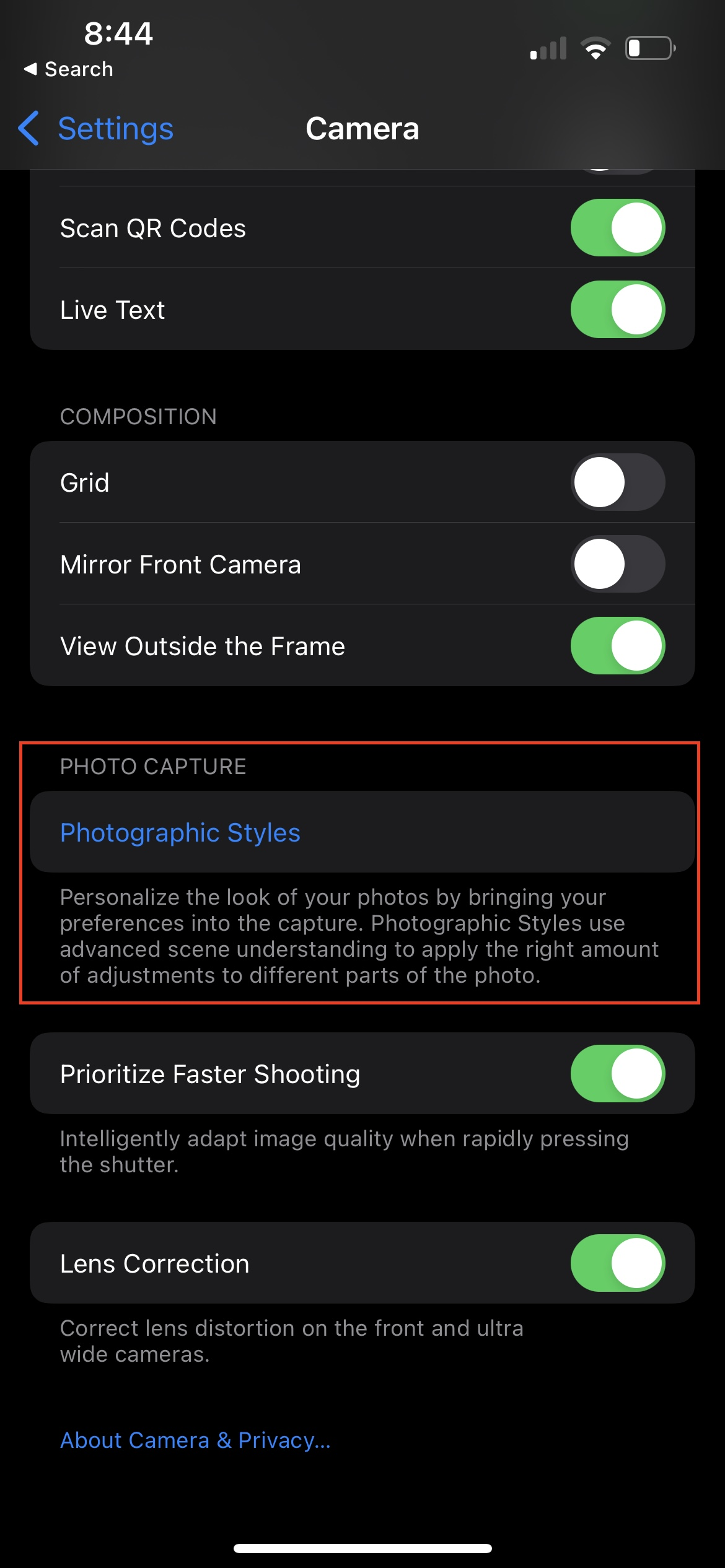 How To Use Photographic Styles on iPhone 2