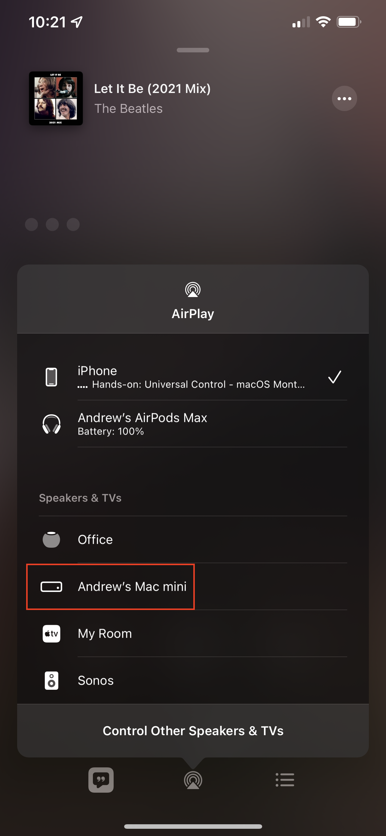 How to AirPlay from iPhone to Mac using Apple Music 2
